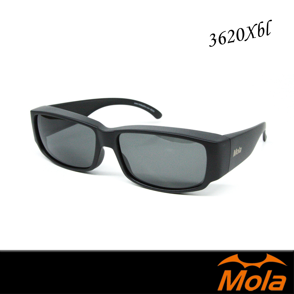 MOLA摩拉外掛式偏光太陽眼鏡 UV400 超輕量  近視眼鏡可戴 3620Xblpl