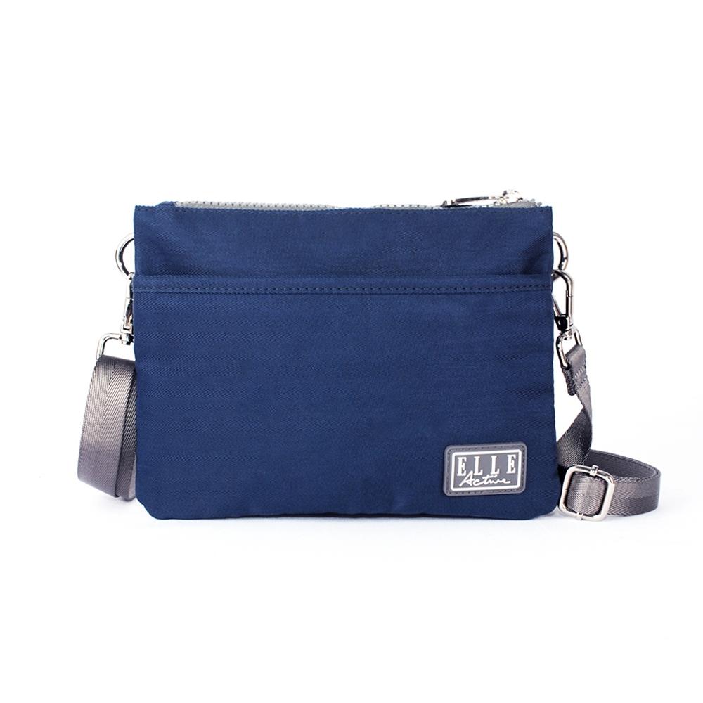 ELLE Active 透視網布系列-側背包/斜背包/包中包-小-深藍色