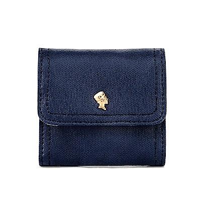 PORTER - 輕甜繽紛SPIRIT復古雙層零錢包 - 深藍(金)