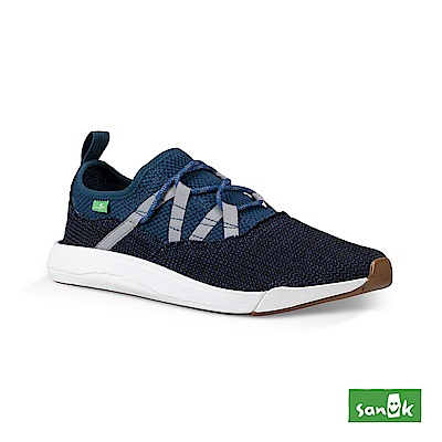 SANUK CHIBA QUEST編織網布鞋帶休閒鞋-男款(海軍藍)