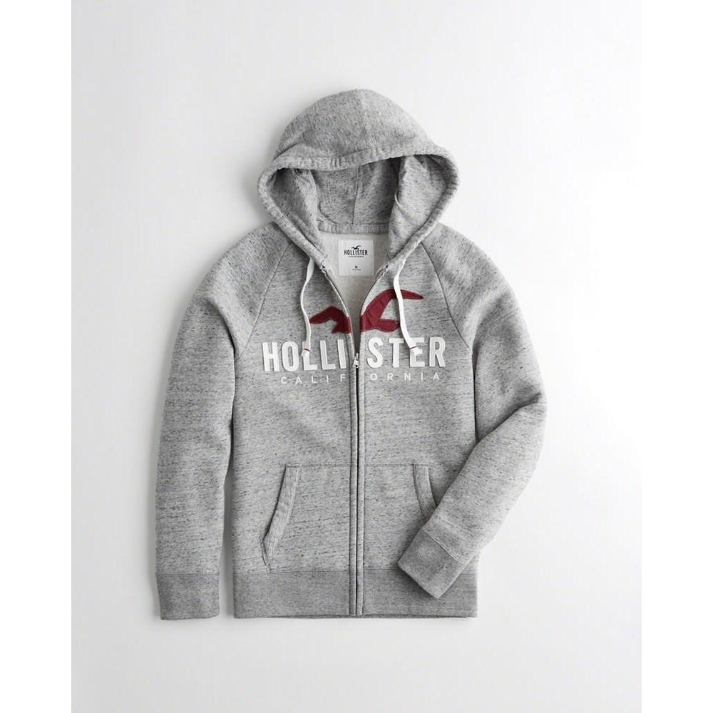 Hollister HCO 長袖 帽T  灰色 1138