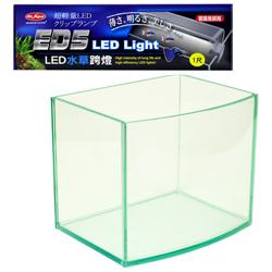 《台製》高透析海灣5mm空缸(一尺)+《水族先生》水草LED超輕量水族跨燈(一尺)