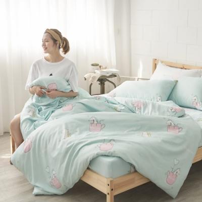 BUHO 舒涼TENCEL天絲雙人加大四件式兩用被床包組(童幻奇夢)