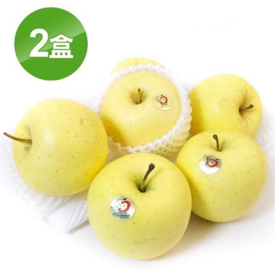 愛上水果 日本青森金星蘋果8顆禮盒組*2盒(約300-320克/顆)(春節禮盒)