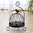 Meric Garden 復古創意手工金屬蚊香盤/薰香盤/小物收納盤(鳥籠小鳥)