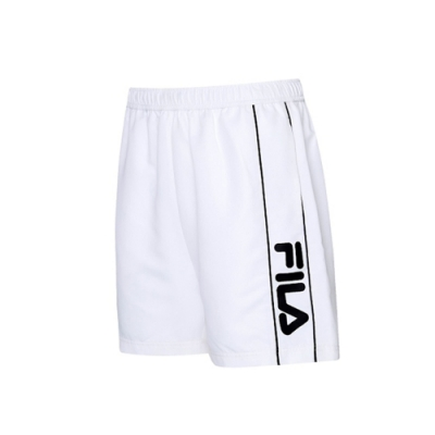 FILA 男平織短褲-白色 1SHV-1004-WT