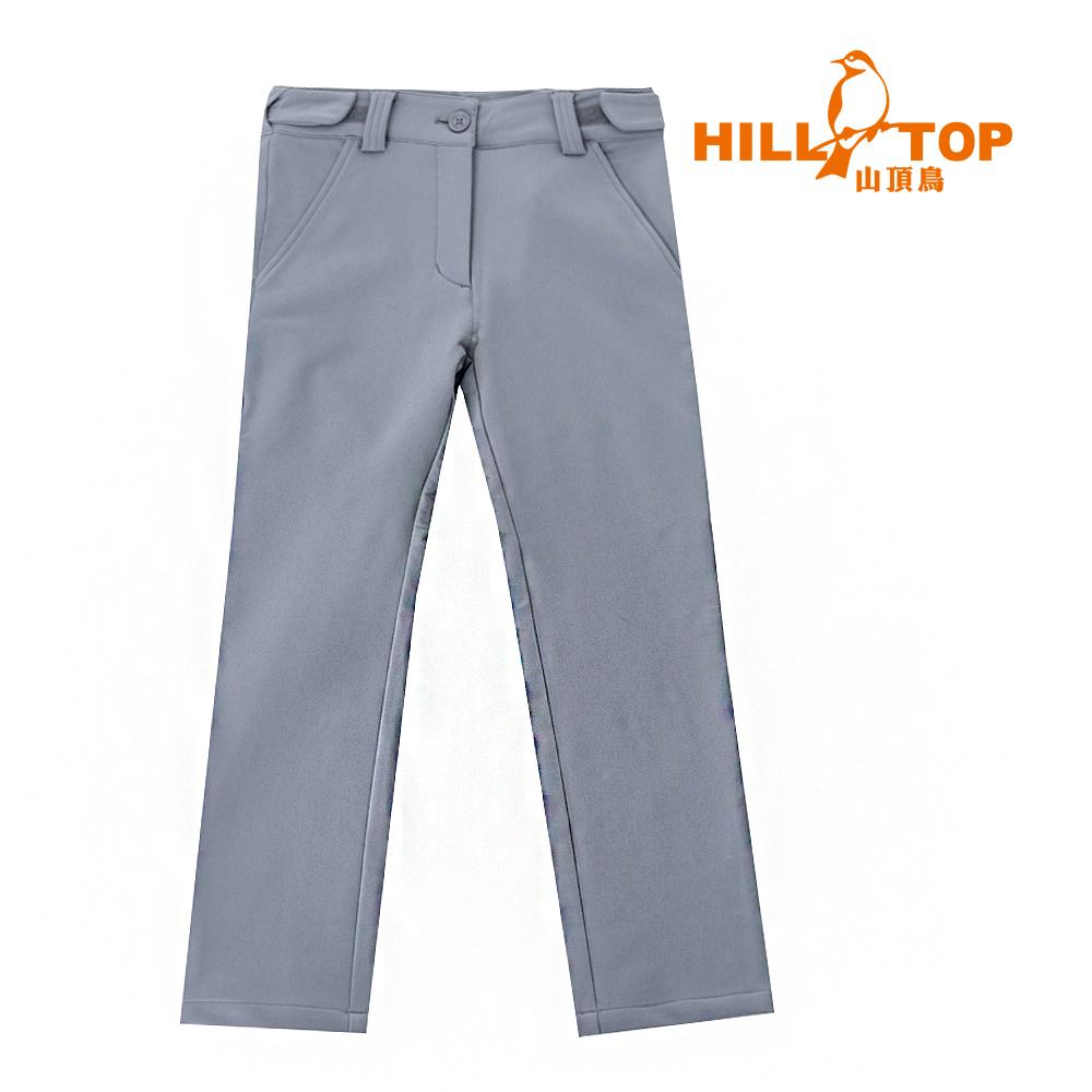 【hilltop山頂鳥】童款超撥水彈性長褲H31CA7大理石灰
