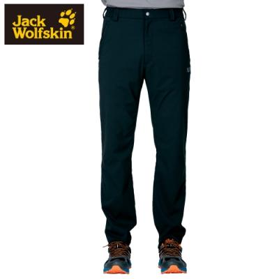 【Jack Wolfskin 飛狼】男 Supplex 彈性快乾休閒長褲『黑色』