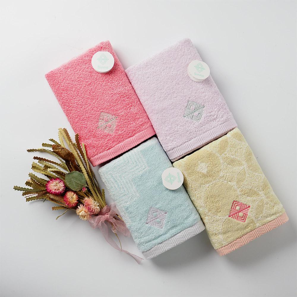 日本丸真 今治雙色禮盒兩件組-藍+粉(毛巾x2)
