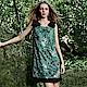 JESSICA - 立體刺繡蝴蝶結造型修身洋裝(綠) product thumbnail 1