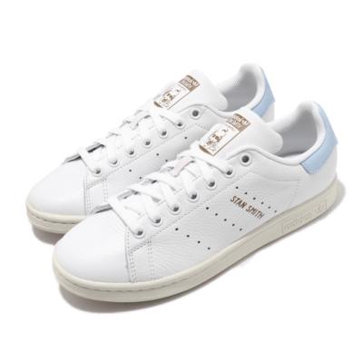 adidas 休閒鞋 Stan Smith 復古 低筒 男女鞋 愛迪達 三葉草 金標 史密斯 情侶鞋 白 藍 FV8276