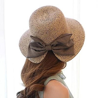 米蘭精品 草帽防曬遮陽漁夫帽-優雅氣質蝴蝶結時尚女帽子母親節禮物73rp5