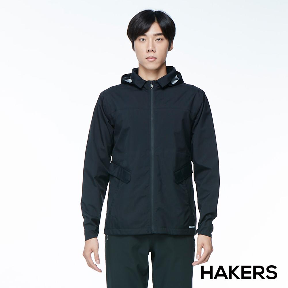【HAKERS 哈克士】男款 3L輕量休旅外套(黑色)