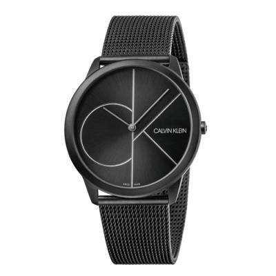 CALVIN KLEIN minimal 系列簡約腕錶-黑色/43mm