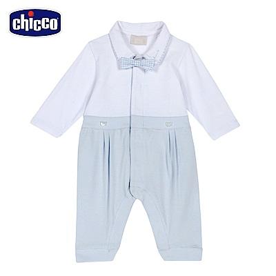 chicco-藍格熊-紳士前開長袖兔裝(無腳套)