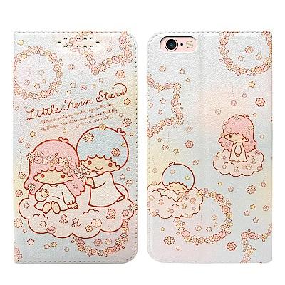三麗鷗授權 iPhone 6s Plus/6 Plus 粉嫩系列彩繪磁力皮套(花圈)