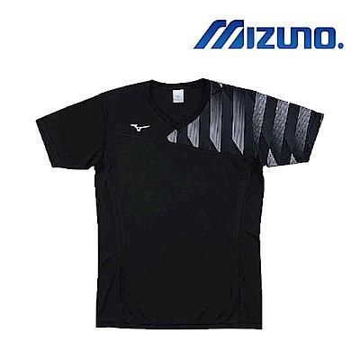 Mizuno 美津濃 男女 排球上衣 黑 V2TA8G1709