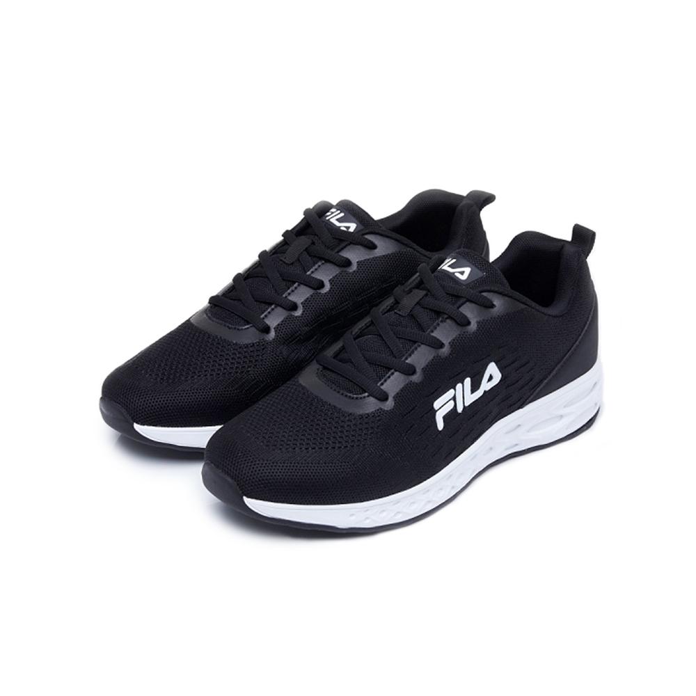 FILA PLATO 男性慢跑鞋-黑 1-J916U-001
