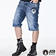 地藏小王 BLUE WAY – 地藏多剪接彈性牛仔短褲 product thumbnail 1