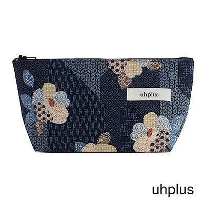 uhplus Q-plus萬用收納包- 小町日和(藍)