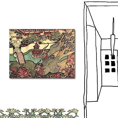 24mama掛畫 單聯式橫幅掛畫無框畫-鳳凰40x30cm