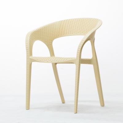 Amos-仿藤編一體成形塑膠戶外休閒椅
