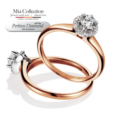 PERKINS 伯金仕-GIA Mia玫瑰金系列 E/VVS2 0.30克拉鑽石戒指