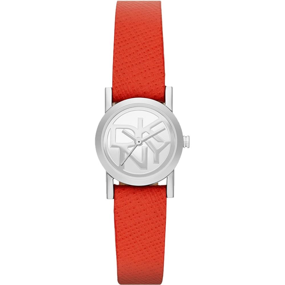 DKNY 魅力時尚品牌LOGO女錶-紅皮帶 NY2152