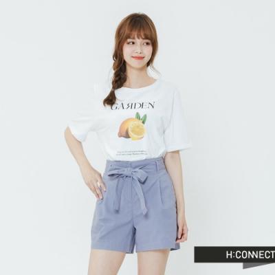H:CONNECT 韓國品牌 女裝-俏皮水果圖樣T-shirt-黃
