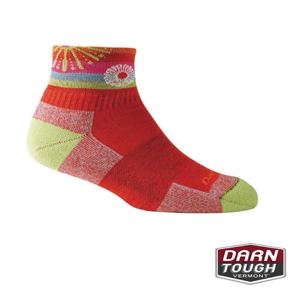 【美國DARN TOUGH】女羊毛襪DAPHNE 1/4健行襪(2入隨機)