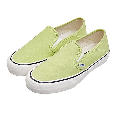 (男)VANS Slip-On SF 經典素色懶人鞋*黃綠VN0A3MVDVSC