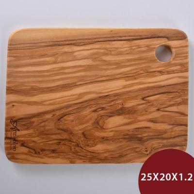 義大利Arte in olivo 橄欖木Rustic盛菜盤 25x20x1.2cm