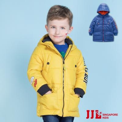 JJLKIDS 蓬鬆暖感防風保暖鋪棉連帽外套(2色)