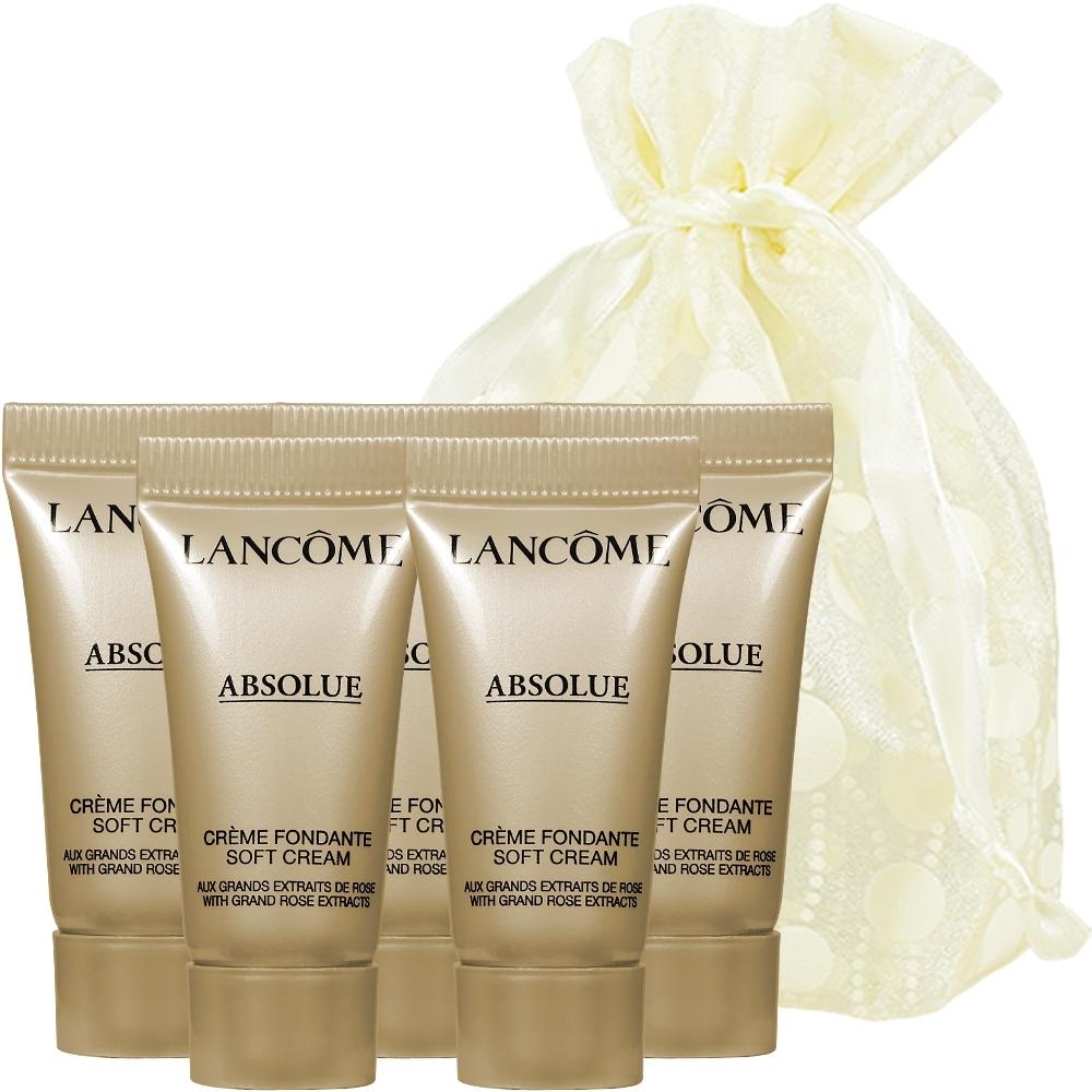 LANCOME 蘭蔻 絕對完美黃金玫瑰修護乳霜(5ml)*5旅行袋組