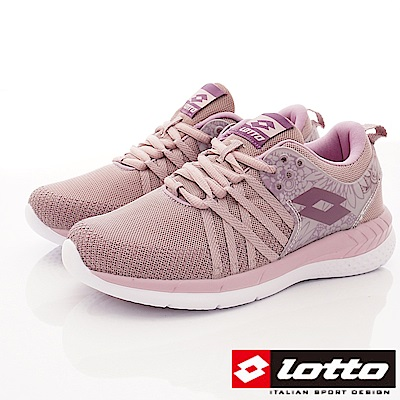Lotto樂得-花漾雙密度跑鞋款 SI827藕紫(女段)