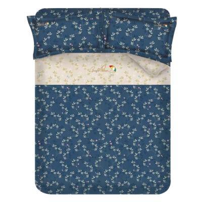 Arnold Palmer雨傘牌 浮草之詩-台製60紗精梳棉床包被套雙人加大四件組