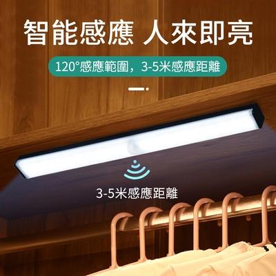 OMG USB充電 磁吸式LED感應燈管 升級版多功能 智能感應燈 小夜燈 宿舍燈 30cm 黑色