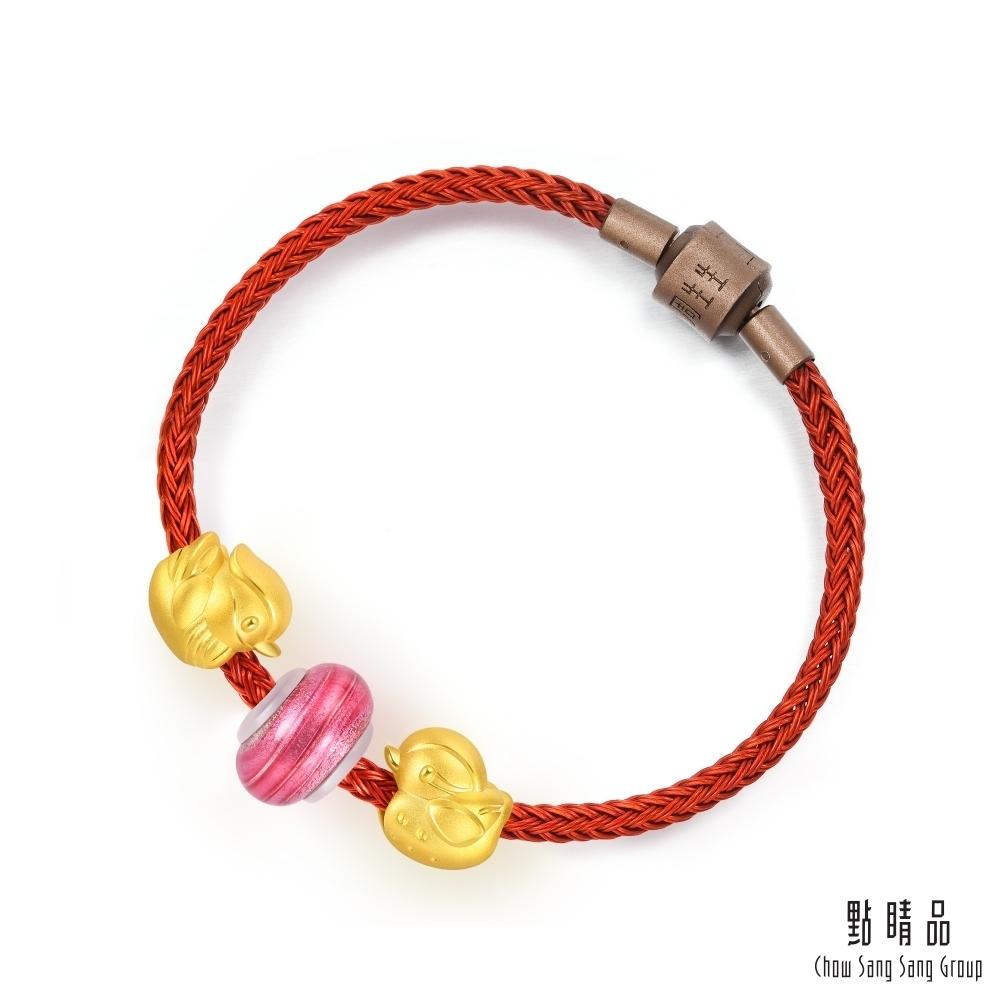 點睛品 Charme Murano Glass 鴛鴦 彩色琉璃黃金串珠手鍊