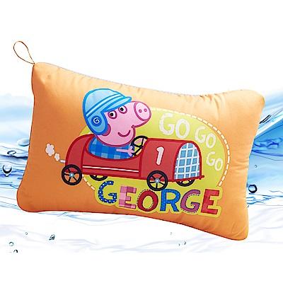 Saint Rose  卡通正版授權 天絲可水洗枕一入-佩佩豬GOGO喬治橘
