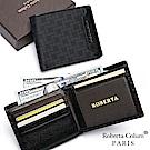 Roberta Colum - 尊爵頭層牛皮暗袋12卡2照可拆式左右翻短夾
