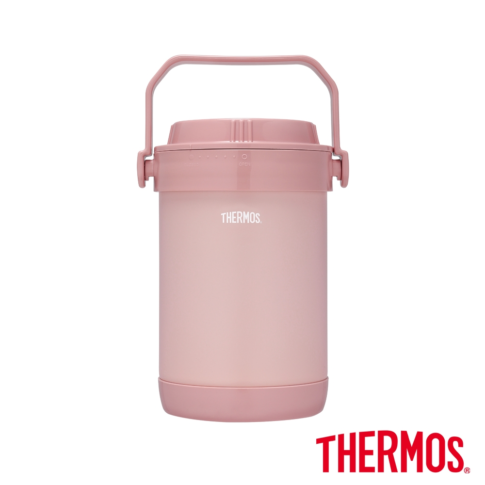 THERMOS膳魔師不鏽鋼真空保溫燜燒提鍋1.5L(RPF-20-RSPK)雪霧玫瑰
