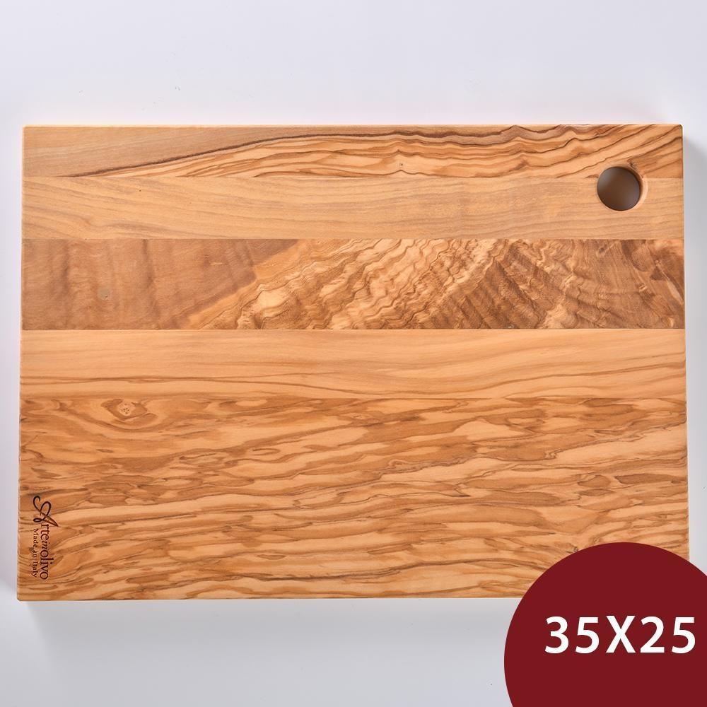 義大利 Arte in olivo 橄欖木長形砧板 35x25cm