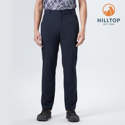【hilltop山頂鳥】男款超潑水抗UV彈性機能長褲S07MD8黑