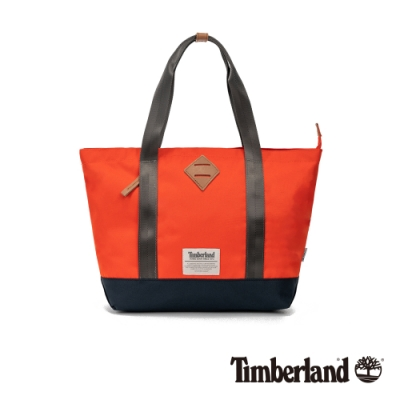 Timberland 中性亮橘色拼色小款托特包|A2FNG