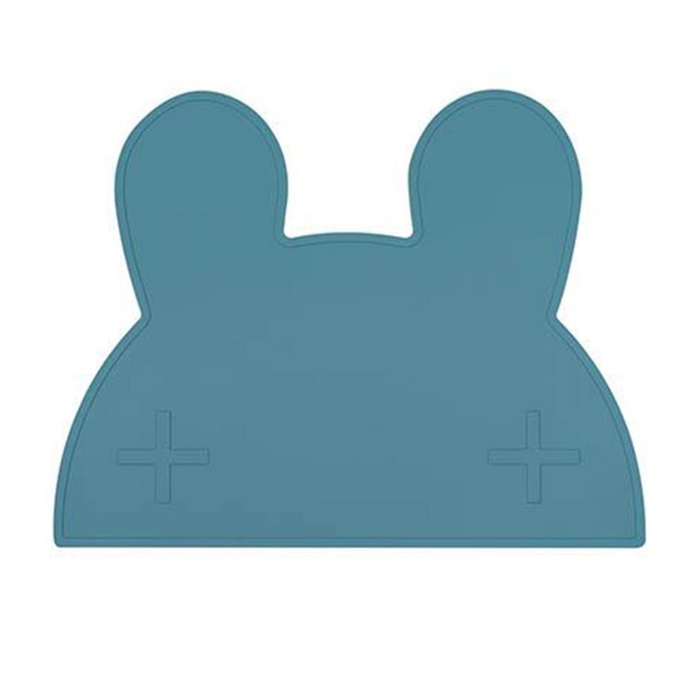 澳洲We Might Be Tiny 矽膠防滑餐墊兔寶寶-孔雀藍