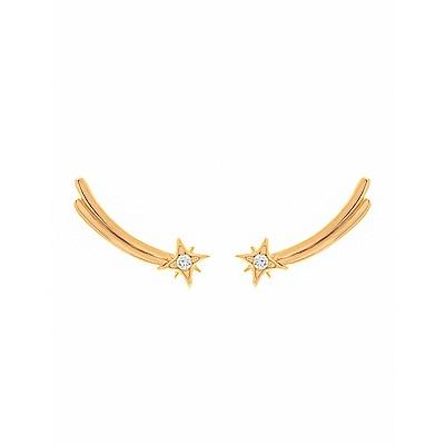 five and two 美國品牌 Aria流星鑲嵌鋯石 金色耳環