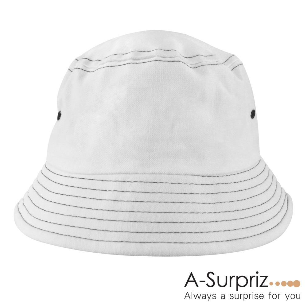 A-Surpriz 韓風純色漁夫帽(白)