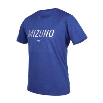 MIZUNO 男 短袖T恤 藍銀