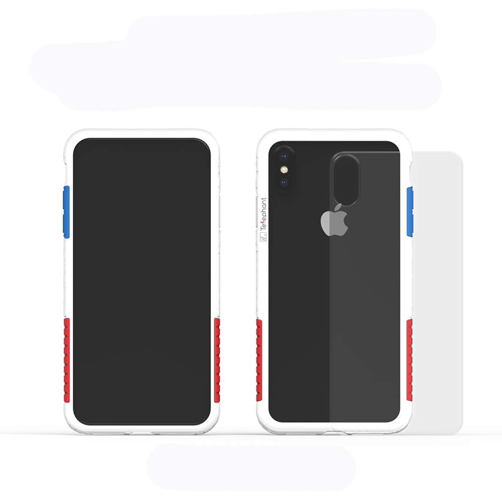 Telephant太樂芬 NMD iPhone XS MAX 白-配OG(附背蓋)