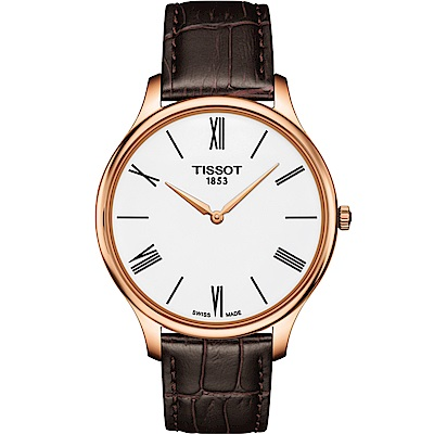 TISSOT天梭 T-Tradition 超薄設計石英錶(T0634093601800)
